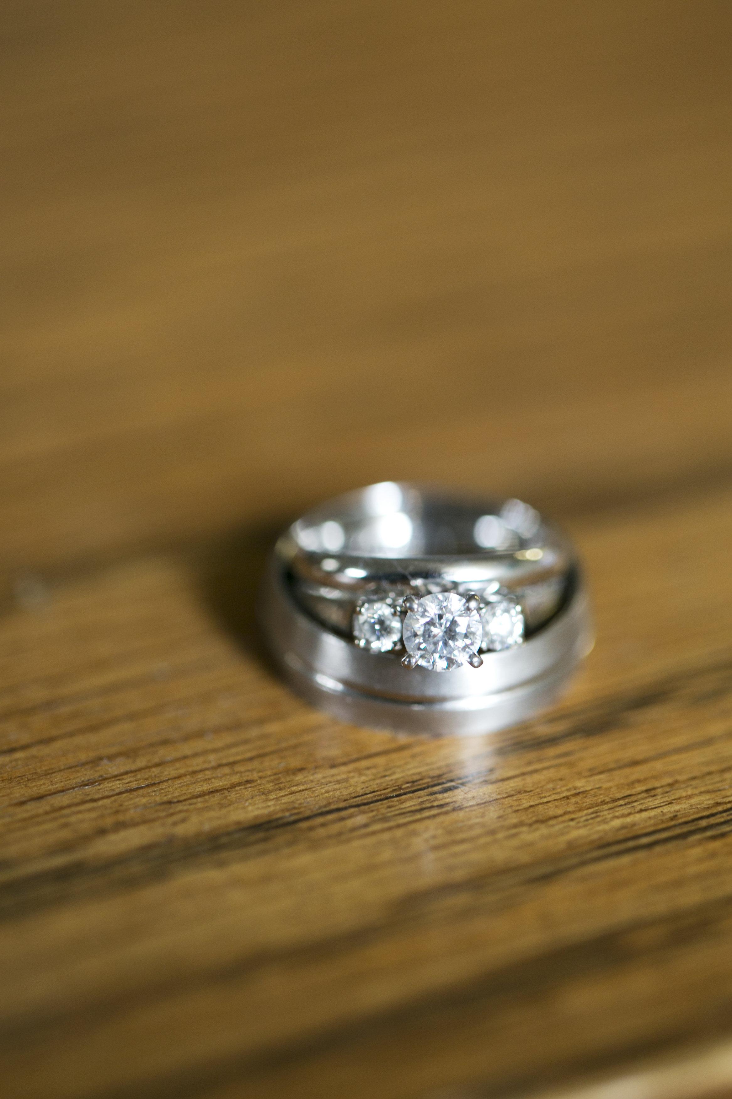 detail ring shot on wood