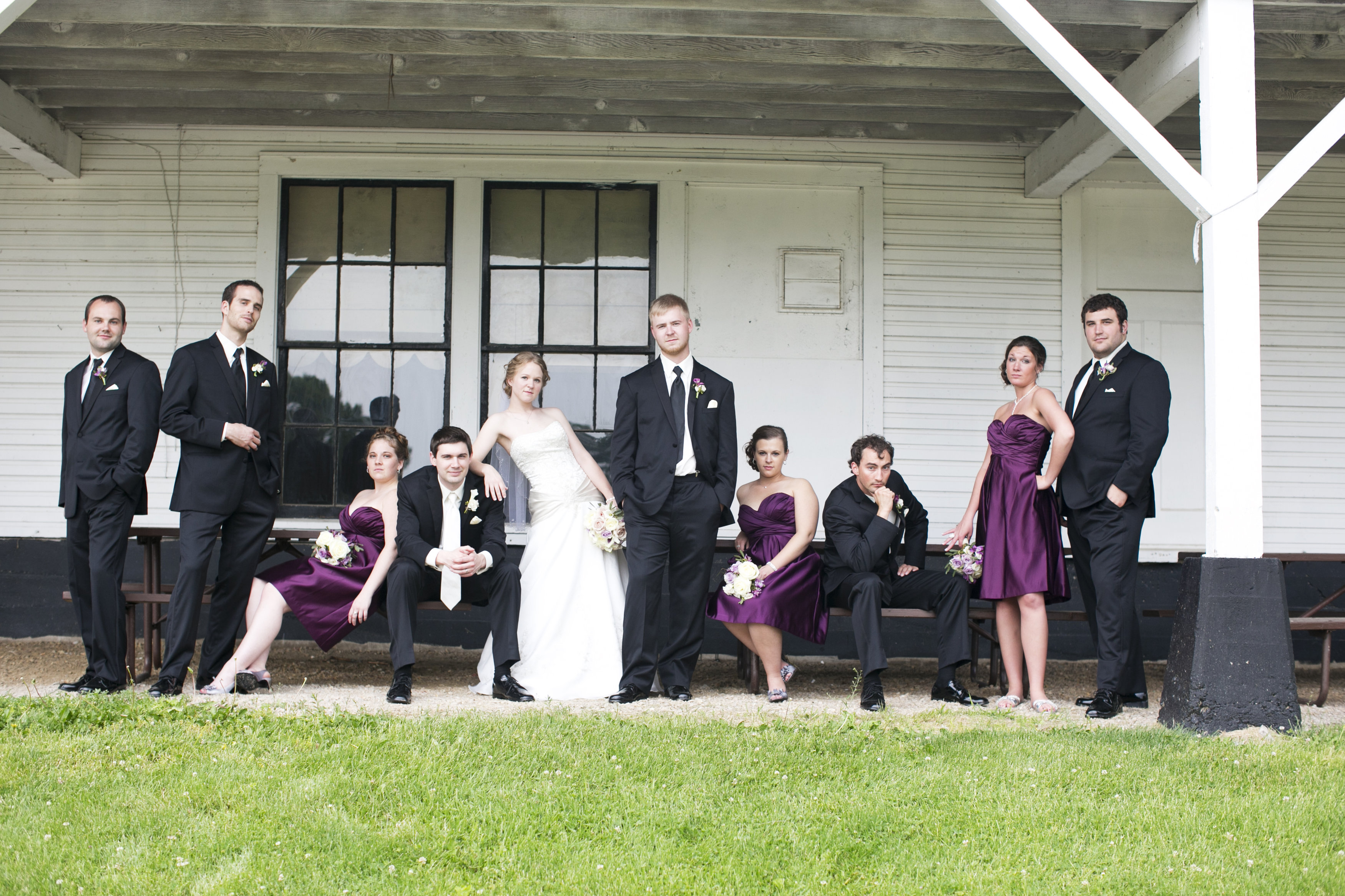 wedding party group photo