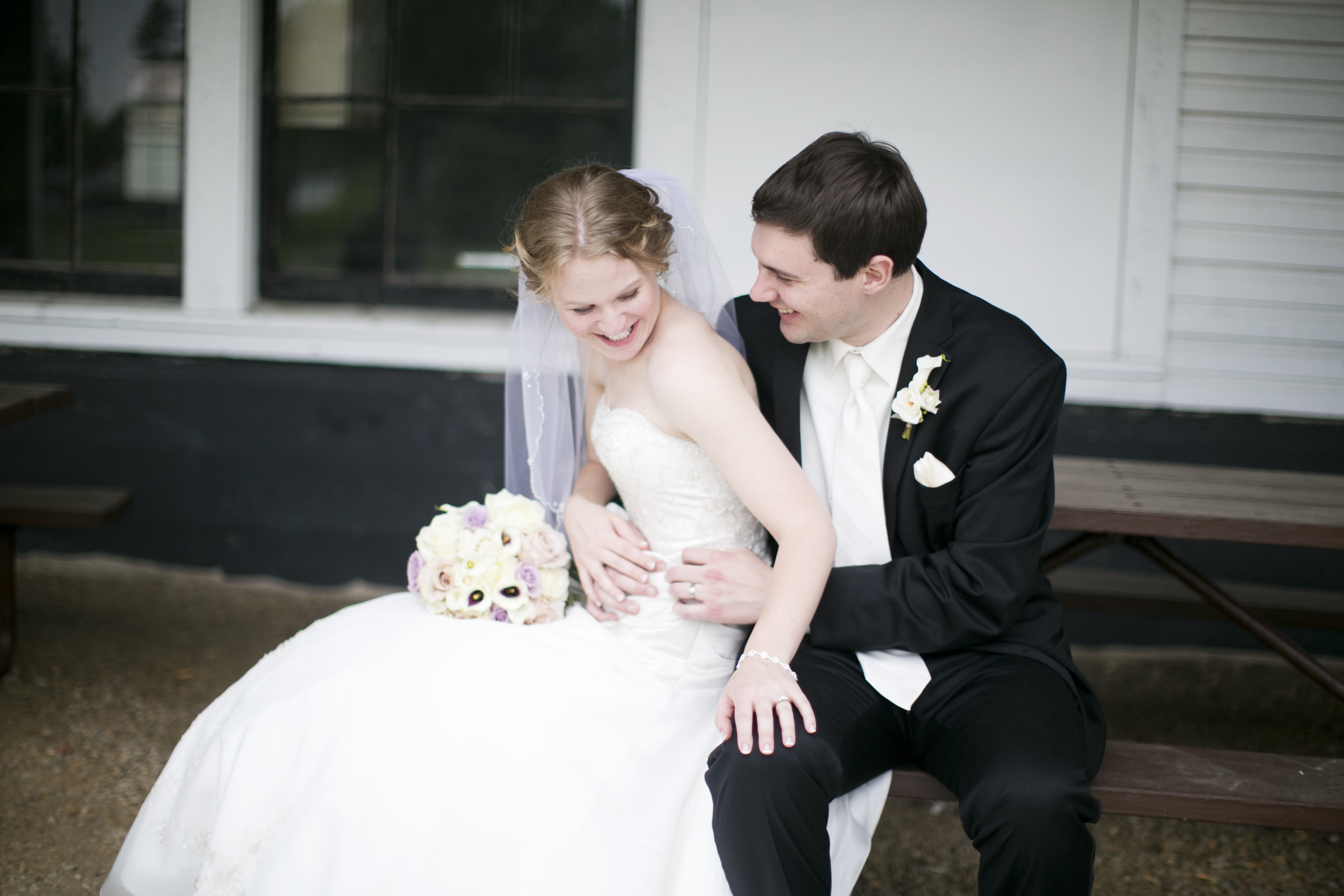sweet happy wedding portrait