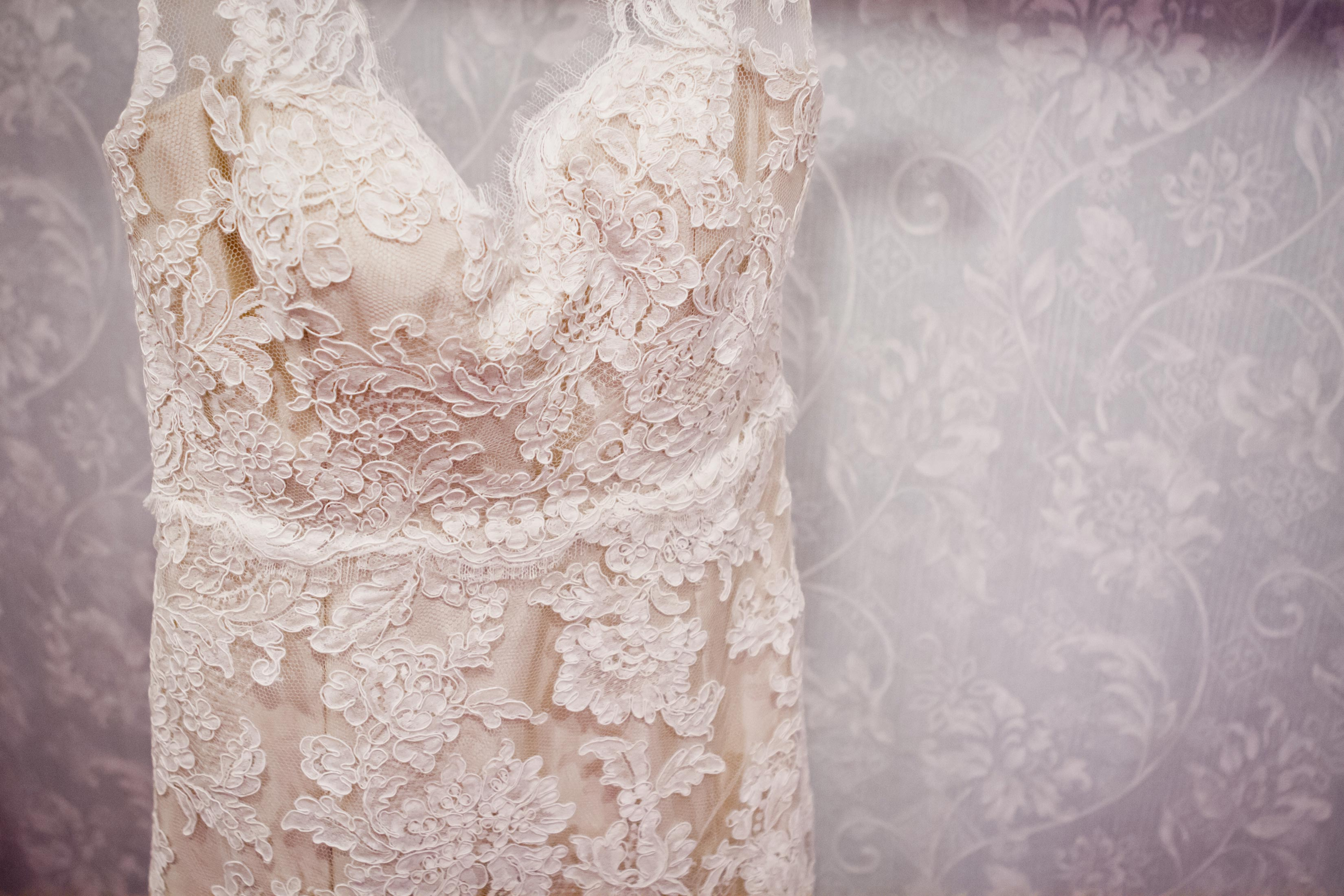 rustic lace wedding dress