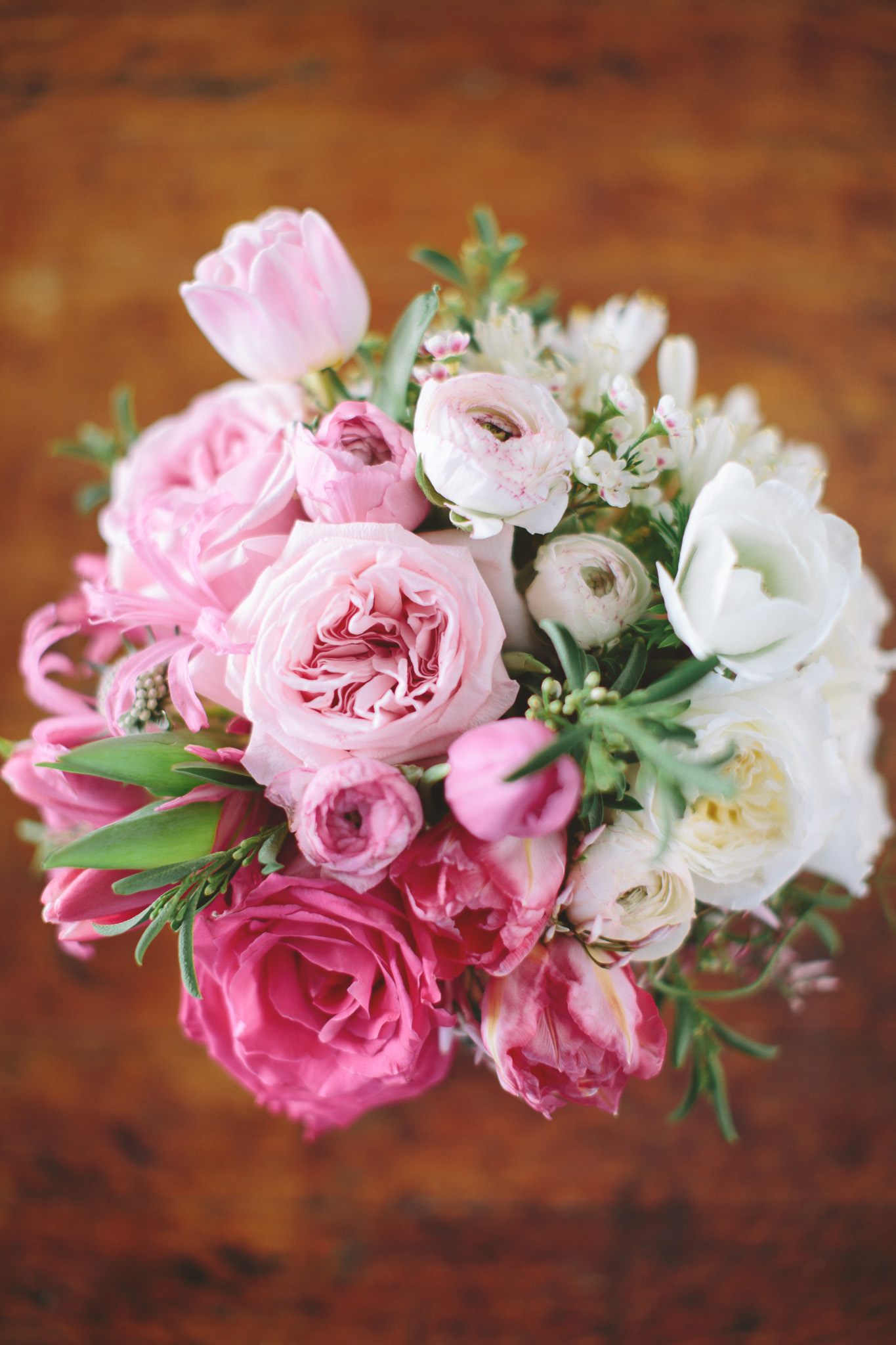 pink and white ombre flowers